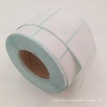 etiqueta engomada blanca baja del papel del precio bajo