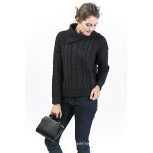 Женский шерстяной пуловер