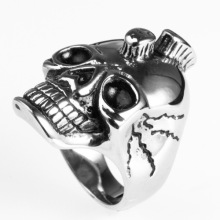 Halloween Jewelry Classic Stainless Steel  Skull Rings