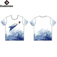 Sublimated Print Logo Custom T Shirt Guangzhou Factory Price OEM 100% Cotton Cheap Printing T Shirt Dry Fit T Shirt