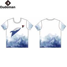 Sublimada Impressão Logotipo Personalizado Camiseta Guangzhou Preço de Fábrica OEM 100% Algodão Impressão Barato T Camisa Dry Fit T