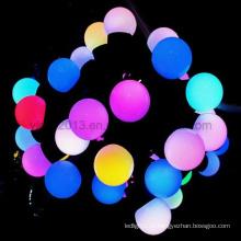 Мигающий эффект Внутренний Наружный 220V 5m RGB LED Ball Bulb String Light