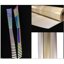 hi vis rainbow reflective heat transfer vinyl film