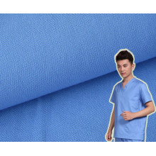 Cotton Plain Patient Clothing Fabric with Anti Chlorine Wash
