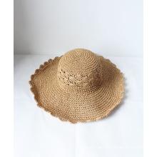 Summer Trendy Hollow-out ao ar livre Sol Chapéus de Palha Sombrero