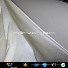 Tissu réfléchissant polyester argenté haute visibilité