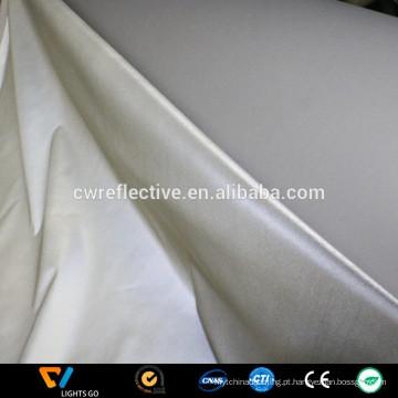 tecido reflexivo de prata de poliéster de alta visibilidade