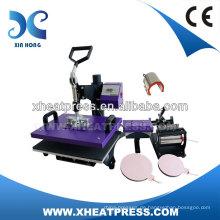6IN1 Combo kundenspezifische T-Shirt Etiketten-Farbstoff Hitze Pressmaschine