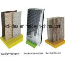 Оптовая изысканные стойки дисплея плитки для керамической, выставка кварц плитка