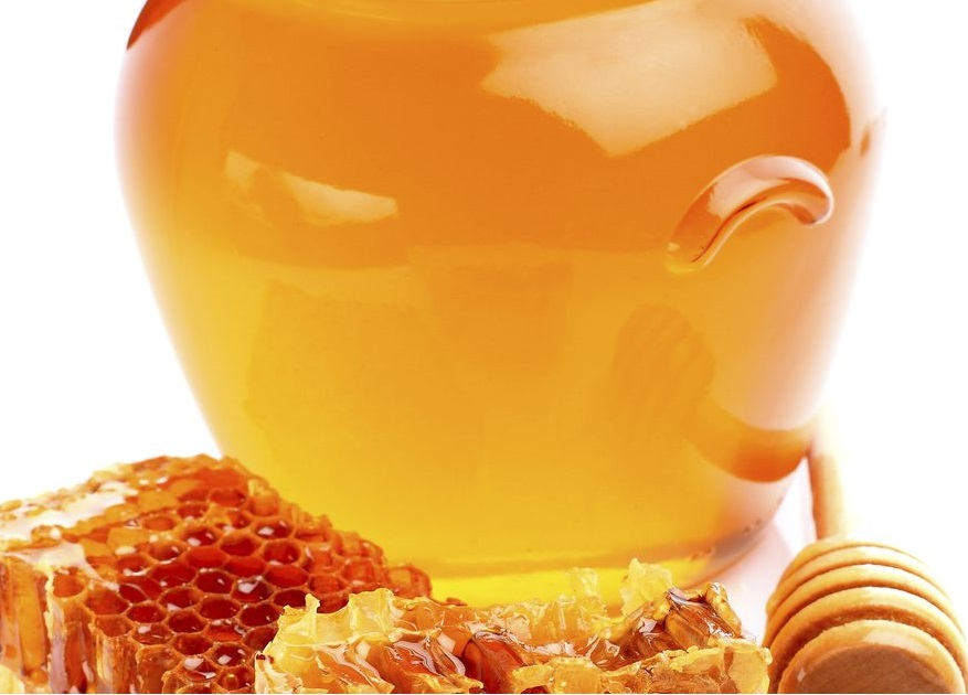 natural and pure golden organic sunflower honey