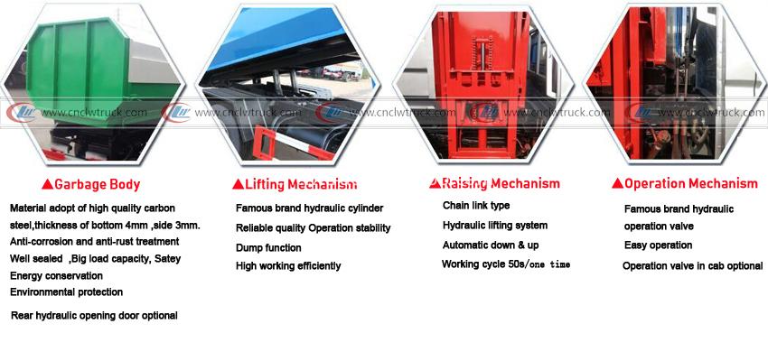 side loader garbage trucks details