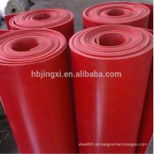 Rotes Gummiblatt aus Naturgummi 6mm