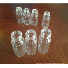 Tube transparent vissé flacons en verre pour l'emballage