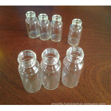 Tubular Clear Screwed Glass Vials for Packing