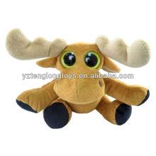 """Moose Big Eyes Plush Toy 6"""" Stuffed Animal"""