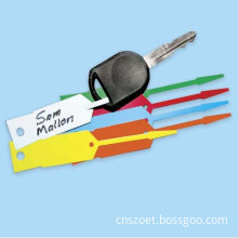Plastic Hang Tag, Key Tag with Tailor Made in Size and Printing