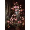 Óleo Handmade de 100% na lona Pinturas a óleo clássicas da flor para a decoração Home (ECH-104)