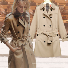 2015 Autumn and Winter New England Double-Breasted Long Wind Jacket