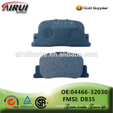 Famous disc brake pads OE quality, manufacturer hot sales auto parts(OE:04466-32030/D835)