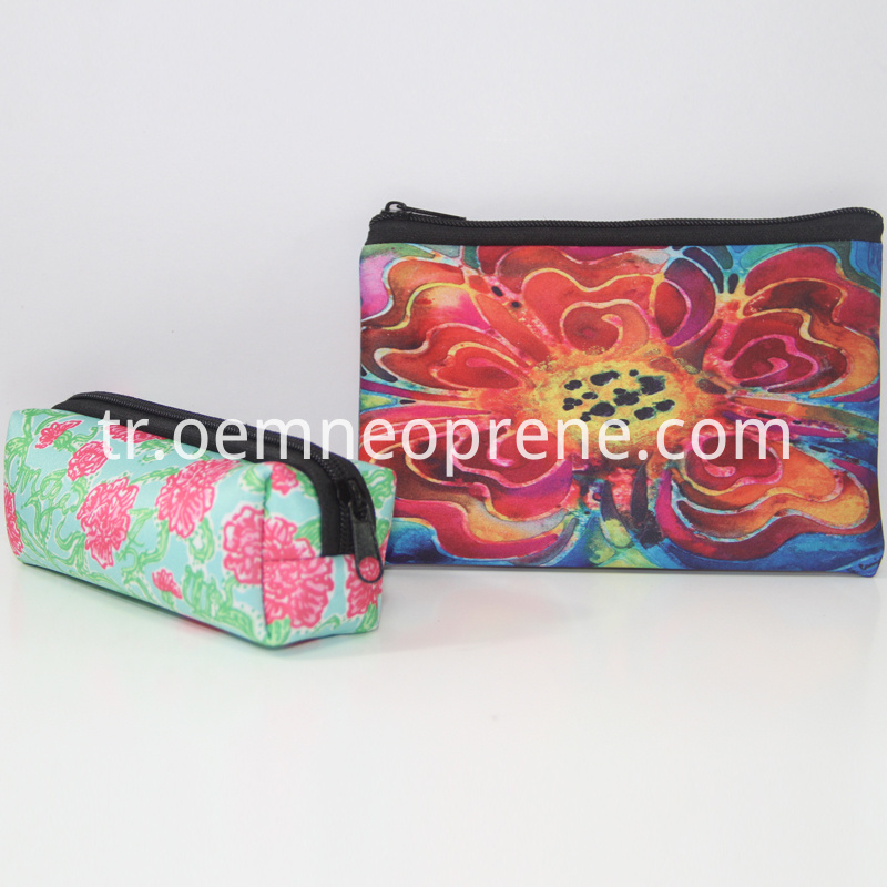 Neoprene makeup bag