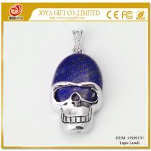 Lapis Lazuli Semi Precious stone Skull Pendant