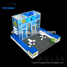 Aluminum profile booth with fabric covered fashion trade show design Aluminum profile booth with fabric covered fashion trade show design