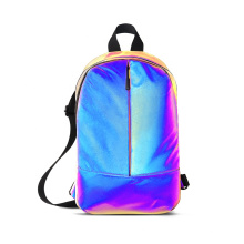 Hi Vis Plain Solid Reflective Safety Backpack Sling Bag for Kids Children