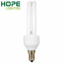 CE de poupança de energia do bulbo de 2u E14 9W / RoHS / ISO9001 aprovado