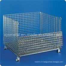 Palettes à cage de stockage pliable à main forte