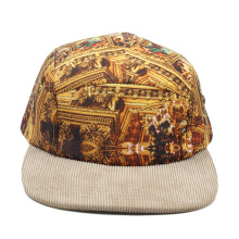 blank camper caps tie dye flat brim sublimation printing 5 panel hats