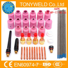 wp17/wp26 tig welding gun parts 46PK tig welding collet parts kits