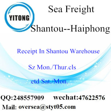 Shantou Port LCL Consolidation To Haiphong