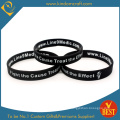 Promotional Double Side Logo Printed Sillicone Wristband (LN-024)