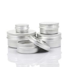 Pot en aluminium, boîte en étain pour crème de beauté (NAL01)