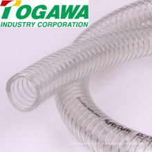 PVC spiral steel wire reinforced hose. Manufactured by Togawa Industry Corporation. Made in Japan (pvc spiral flexible hose)