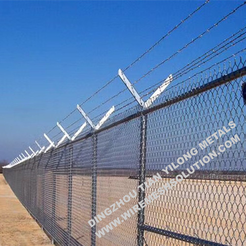 Galvanized Chain Link Fence Gate for Grassland