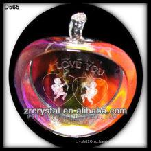 К9 3D лазерное Ангел внутри красочные Хрустальное Яблоко