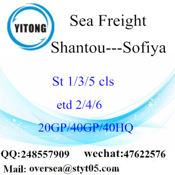 Shantou Port Sea Freight Shipping Para Sofiya