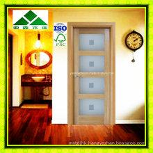 Lite/Glass Shaker Panel White Oak French Door