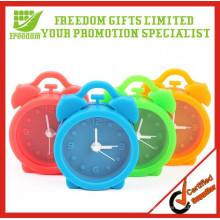 Presentes da promoção Multi-cor Mini Linda Silicone Alarm Clock