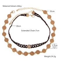 Gotische Retro-schwarzen Spitzen Halsband Halskette Damenkostüm