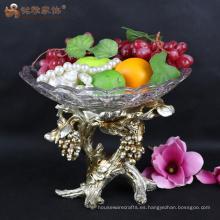 Vajilla resina candy palte tazón de fruta para la pieza central de la boda