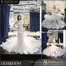 Alta qualidade Custom Made sereia barato alibaba casamento vestido
