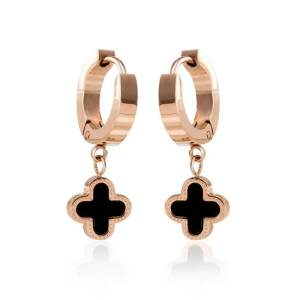 Four Leaf Clover Stud Screw Earrings para Mujeres