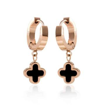 Four Leaf Clover Stud Screw Earrings for Women
