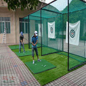 Green Golf Training Net acertando Cage