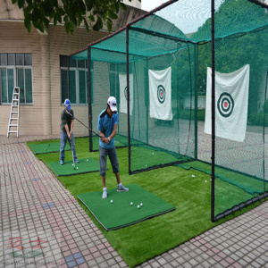 Green Golf Training Net slår Cage