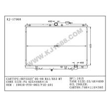 China-Lieferanten-Selbstkühler für Honda Odyssey`95-98 Ra1/Ra3 Mt