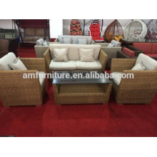 new design PE wicker garden furniture leisure PE rattan sofa set