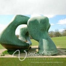 grande jardim decoração bronze metal arte abstrata escultura